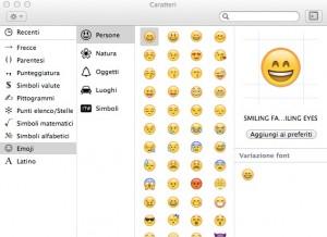 Emoji su Mac OSX