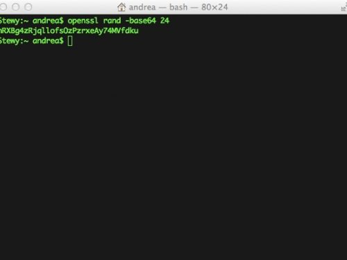 Usare OpenSSL per generare password sicure