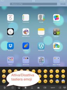 Attiva tastiera emoji