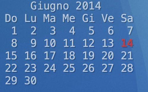 Calendario geeklets