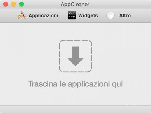 AppCleaner, rimuovere le app su OSX