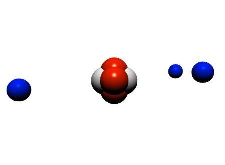 Demokrytos, particelle, atomi e molecole con scene kit