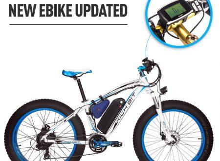 E-bike,  RICH BIT Bici elettriche Cruiser fat