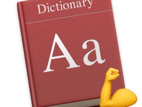 Dizionario osx, aggiungere sinonimi e contrari e non solo