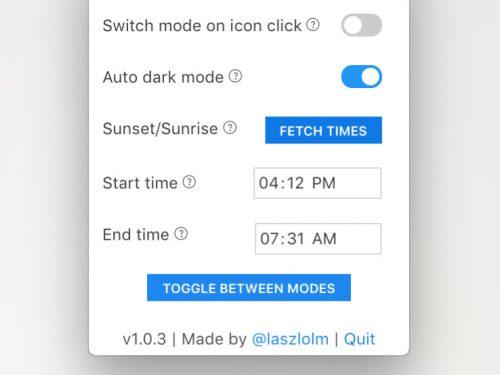DarkMode Mac, attivarla automaticamente
