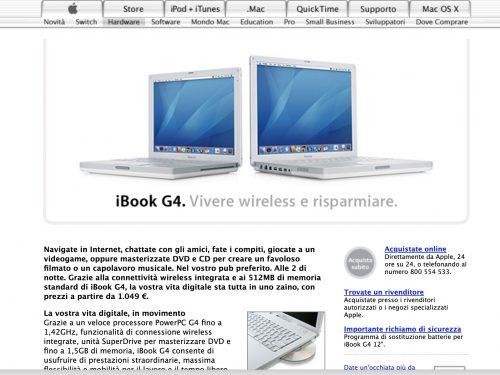 iBook G4, il mio primo computer Apple