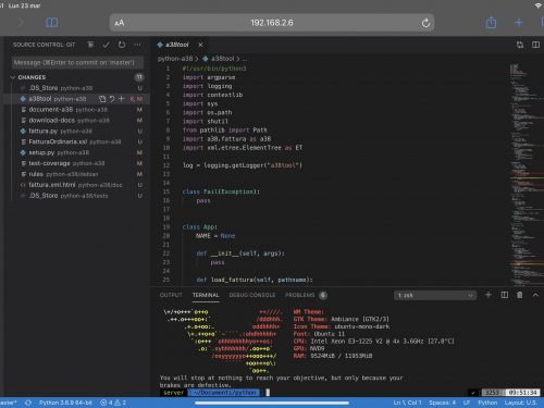 Visual Studio Code su iPad, iOs, Android e tutto il resto