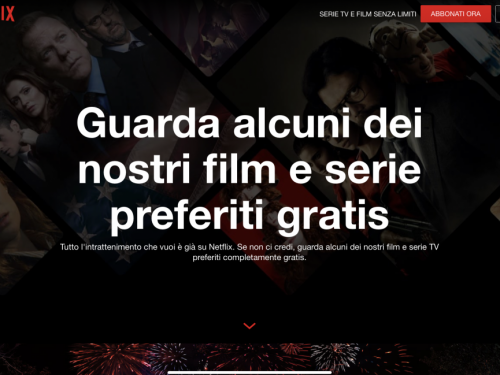 Netflix gratis, almeno in parte, senza registrarsi