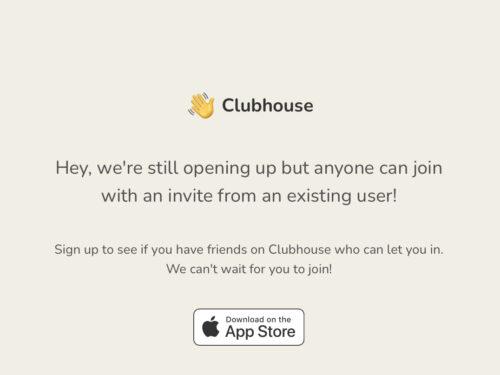 Clubhouse, come ottenere un invito