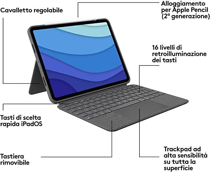 Tastiera logitech combo touch